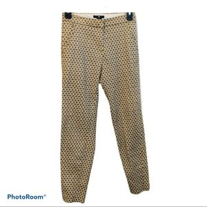 H&M Ankle Pants Yellow & White Design with Pockets